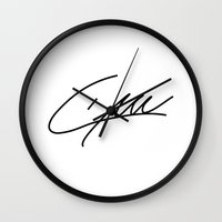 liam payne Wall Clocks featuring Liam Payne - One Direction by Moments Design