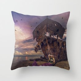 Siren's Sorrow Throw Pillow