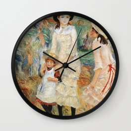 Auguste Renoir - Children On The Seashore  Guernsey Wall Clock