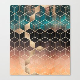 Ombre Dream Cubes Canvas Print