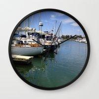 marina Wall Clocks featuring Marina by Jasmine Perillo