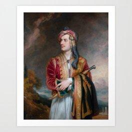 Lord Byron in Albanian Dress - 1813 Art Print