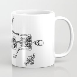 Mermaid Skeleton Coffee Mug