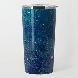 Symbols and elements of Sacred geometry Travel Mug