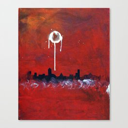 Blood Red City Tonight Canvas Print
