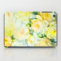 shabby chic iPad Cases featuring Shabby Chic Yellow by Jacqueline Maldonado