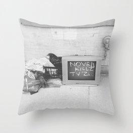 TV CAUSALITY (B&W) Throw Pillow