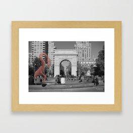 Unseen Monsters of New York - Catty Wampus Framed Art Print