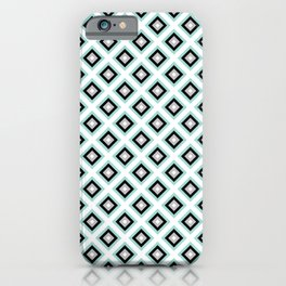 Dimonds Pattern | Blue | Black | Greay iPhone Case