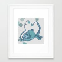 octopus Framed Art Prints featuring Octopus ! by Clare Corfield Carr