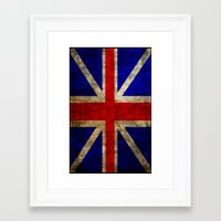 british flag Framed Art Prints featuring British Flag by Jason Michael