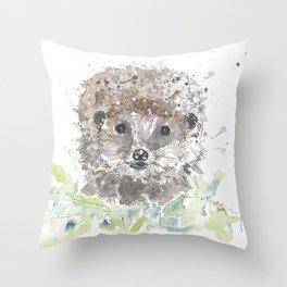 Hedgehog portrait Throw Pillow