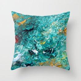 """""""Leprechaun's Koi Pond"""" Painting Throw Pillow"""