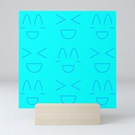 Emoji Kawaii Pattern Mini Art Print