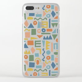 Colorful Shapes Clear iPhone Case