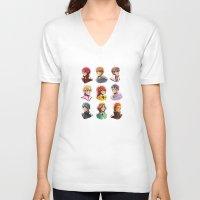 iwatobi V-neck T-shirts featuring Free! by AndytheLemon