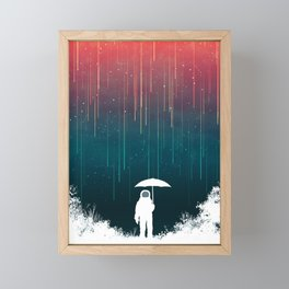 Meteoric rainfall Framed Mini Art Print