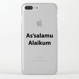 As'salamu Alaikum Clear iPhone Case