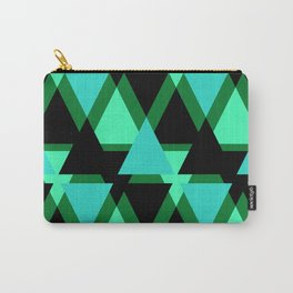 Abstract pattern . The green triangles . Carry-All Pouch