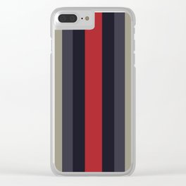 High Fashion Designer Style Stripes Clear iPhone Case