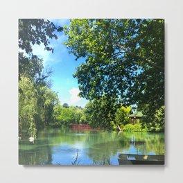 Serene Pond Landscape Metal Print