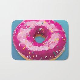 Lowpoly Donut Bath Mat