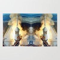 apollo Area & Throw Rugs featuring Apollo 11 by Planet Prints