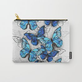 Composition of White and Blue Butterflies Carry-All Pouch