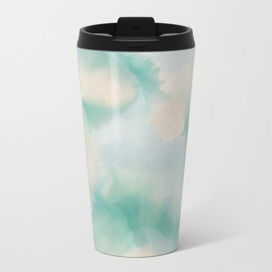 GREEN WATERCOLOR Metal Travel Mug