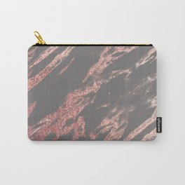 Charcoal rose gold Carry-All Pouch