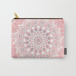 Pink white mandalas Carry-All Pouch