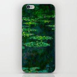 Claude Monet Impressionist Landscape Oil Painting Waterlilies iPhone Skin