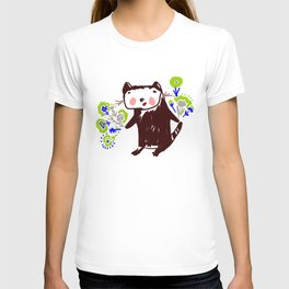 A little otter with flowers T-shirt