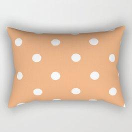 Tangerine Dotty Rectangular Pillow