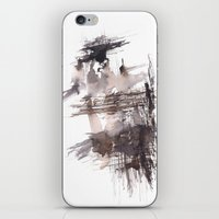 bondage iPhone & iPod Skins featuring Bondage- 151124  Abstract Watercolour  by ©valourine
