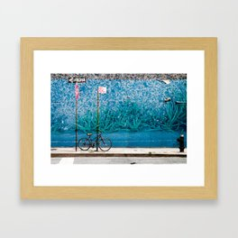 Grassy Wall Framed Art Print