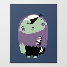 smiling cute zombie Canvas Print