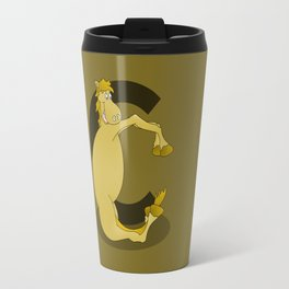Pony Monogram Letter C Travel Mug
