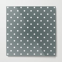 Polka Dots Pattern: Dark Grey Metal Print