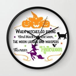 It Is Halloween Wall Clock