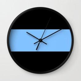 Just three colors 11 Black,blue,black Wall Clock