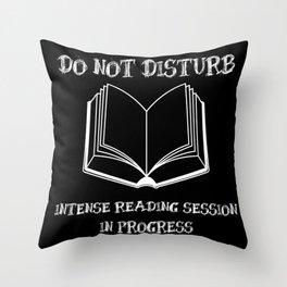 Do Not Disturb (White on Black) Throw Pillow