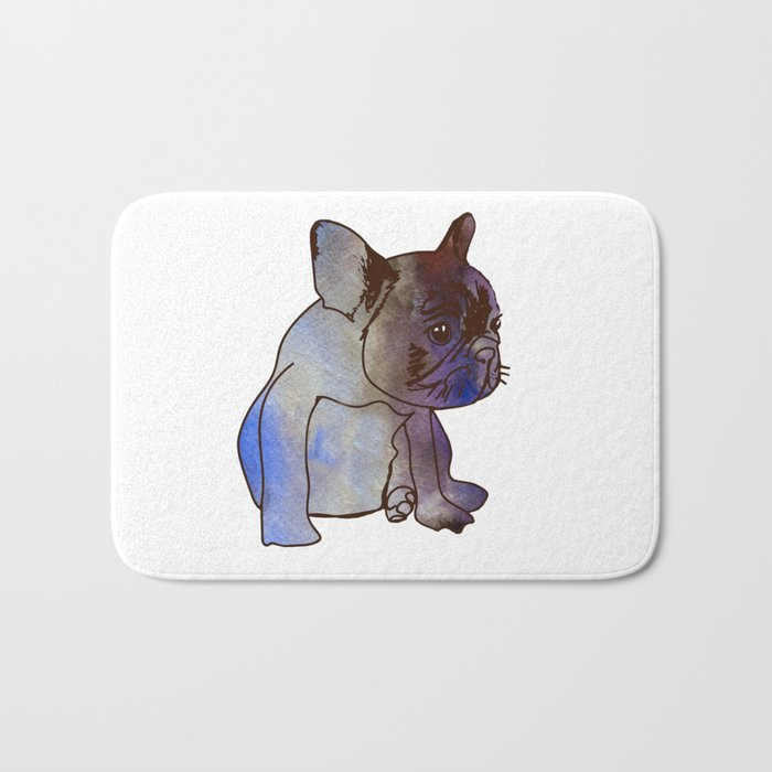 French Bulldog Puppy Cute baby Dog Bath Mat