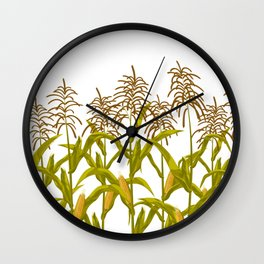 Corn maize pattern Wall Clock