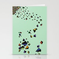 triangles Stationery Cards featuring Triangles by Jarvis Glasses
