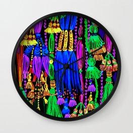 glow tassels Wall Clock