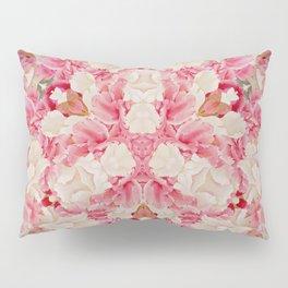 Pink and Cream Pillow Sham