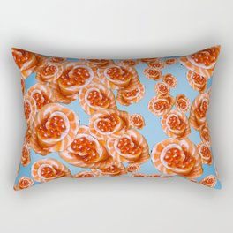 Salmon Rose Rectangular Pillow