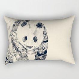 Tattooed Panda {cream} Rectangular Pillow