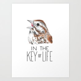 Songs in the Key of Life (Song Sparrow) Art Print